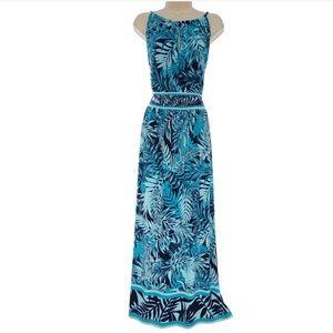 18W 2X▪️KEYHOLE PALM PRINT MAXI DRESS Plus Size